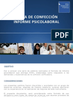 Pauta Confeccion Informe Psicolaboral en Chile
