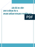 Disposición de productos parafarmaceuticos