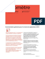 Baromètre national _ Septembre 2015