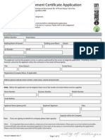 Complying Development Application