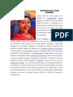 Biografía de Juana Ramirez