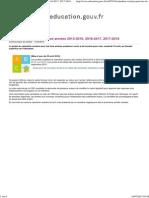Calendrier Scolaire Pour Les Années 2015-2016, 2016-2017, 2017-2018 - Ministère de l'Éducation Nationale, De l'Enseignement Supérieur Et de La Recherche