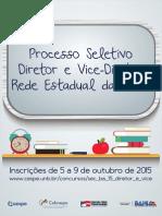 Cartaz Processo Seletivo Sec