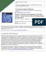 ASR - 21stC Standards for Thermal Comfort