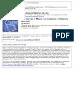 ASR - An Analysis of Masonry Architecture
