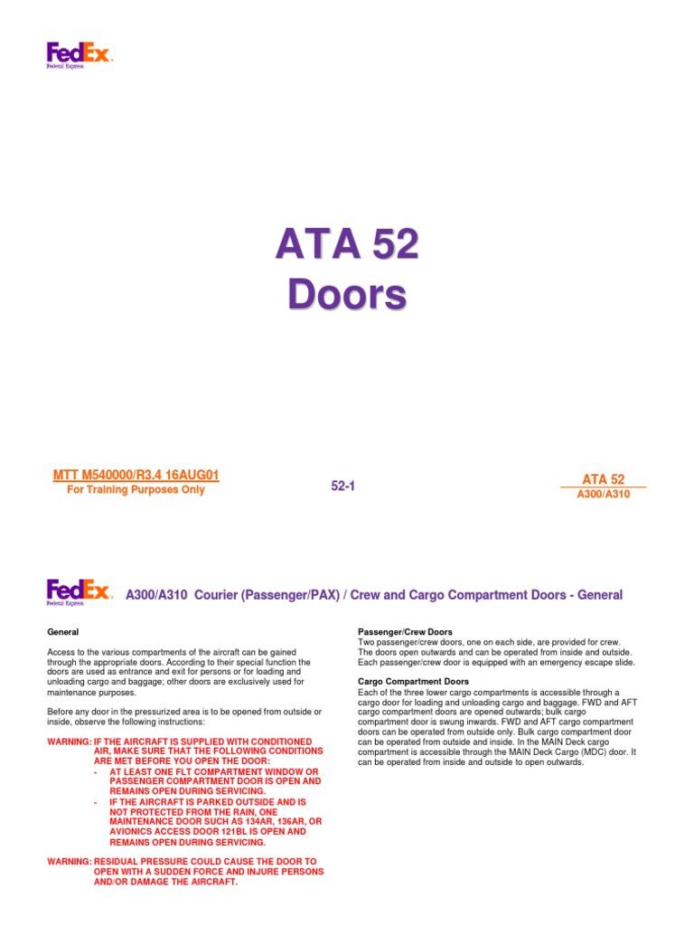 airbus 52 a300 a310 doors door landing gear rh scribd com Technical Data WJR III Technical Manual