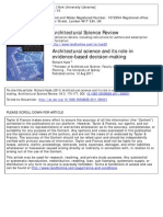 ASR - Architectural Science & Its Role in Evidence-based Design