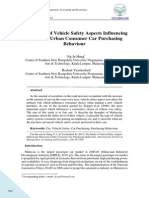 The Study of Vehicle Safety Aspects Influencing Malaysian Urban Consumer Car Purchasing Behaviour