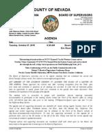 Nevada County BOS Agenda for Oct. 27