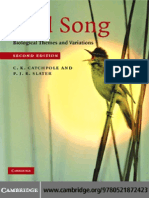 Bird Song Biological Themes and Variations by C. K. Catchpole