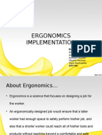 Ergonomic issues in apparel industry