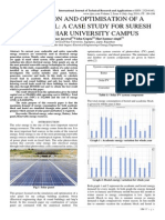 SIMULATION AND OPTIMISATION OF A SOLAR PANEL