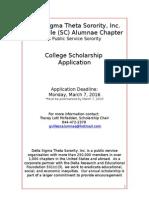 delta sigma theta sorority 2016 scholarship application