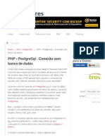 PHP + PostgreSql - Conexão com banco de dados - Rafael Clares