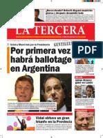 Diario La Tercera 26.10.2015