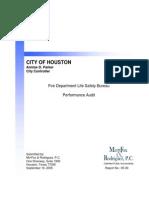 Fire-Life Safety Bureau Performance Audit