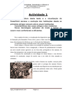 Actividade 1 - a Evoluçao Das Habitaçoes Caracteristicas