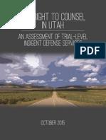 Sixth Amendment Center report on Utah Court System