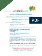 Información Para Participar en El Bazar