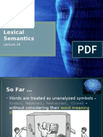 Lecture 14 - Lexical Semantics