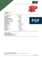 Data Sheet Motoredutor R97DRE112M4 SEW