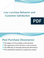 Post Purchase Behavior