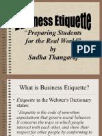 Business Etiquette PPT