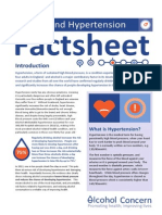Alcohol and Hypertension Factsheet