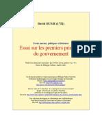 Hume,David - Essai Sur Les Premiers Principes Du Gouvernement (Uqac)