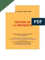 Proudhon,Pierre-Joseph - Théorie de la propriété