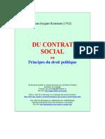 Rousseau,Jean-Jacques - Du Contrat Social