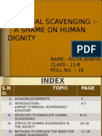 Manual Scavenging (Science Project)