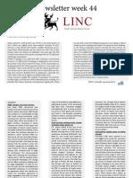 LINC Newsletter Week 44