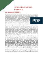 Saint Augustin - Discours sur les psaumes - Ps 91 Le Sabbat Divin