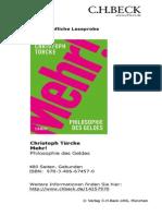 TURCKE, Christoph, Mehr Philosophie Des Geld