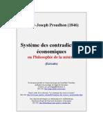 Proudhon,Pierre-Joseph - Système des contradictions économiques