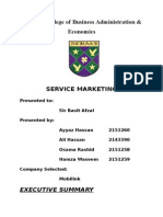 Final Report of Service Marketing