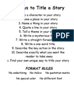 11 ways to title a story