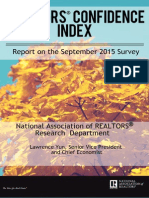 September 2015 REALTORS® Confidence Index