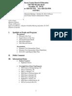Press Packet October 2015 School Board Meeting