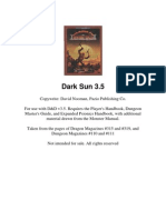 Dark Sun Campaign Setting Pdf