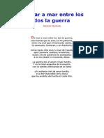 Machado Antonio de Mar a Mar Entre Los Dos La Guerra