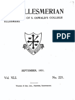 The Ellesmerian 1931 - September - XLI - 221