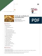 Torta de Sardinha de Liquidificador - Receita Da Vovo