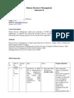 Course Handout-HRM 2014- Class
