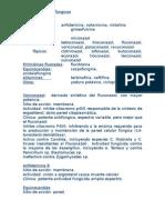 Clasificación antifúngicos