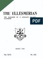 The Ellesmerian 1935 - March - XLVI - 232