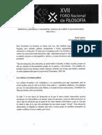 Foro Nacional De Fiosofia