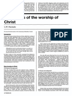 Hurtado Origin of Christ Worship