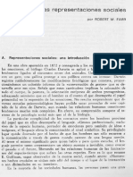 Farr, 1986 Las Representaciones Sociales